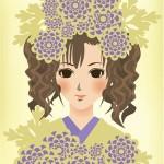 紫菊と少女