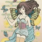 「下着女子」企画のためのイラストレーション